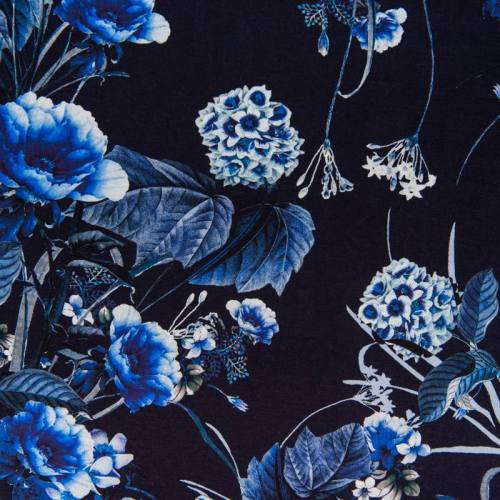 Jersey impression numérique motif hortensia