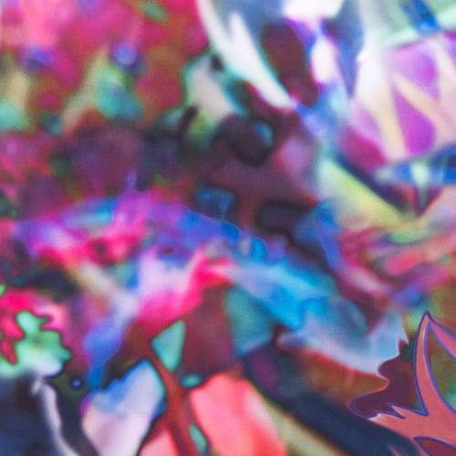 Mousseline multicolore floue