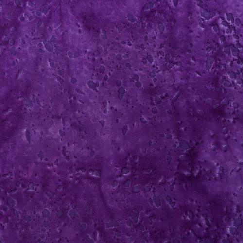 Coupon batik 44X54 cm violet motif moucheté