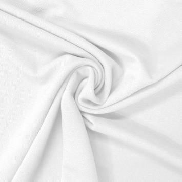 Tissu crêpe satiné blanc