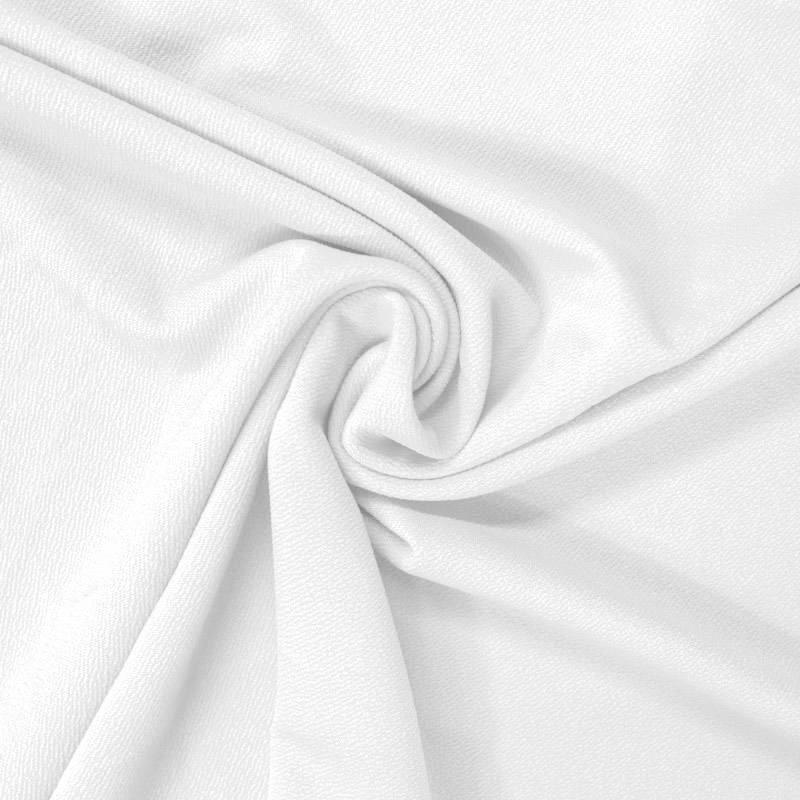 Tissu crêpe satiné blanc cassé