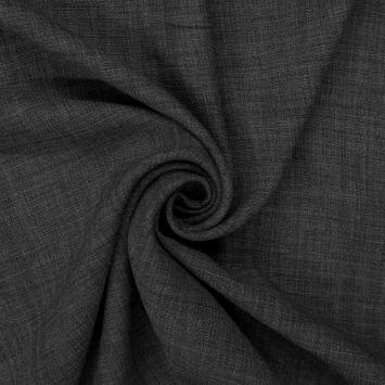 Tissu aspect lin gris foncé