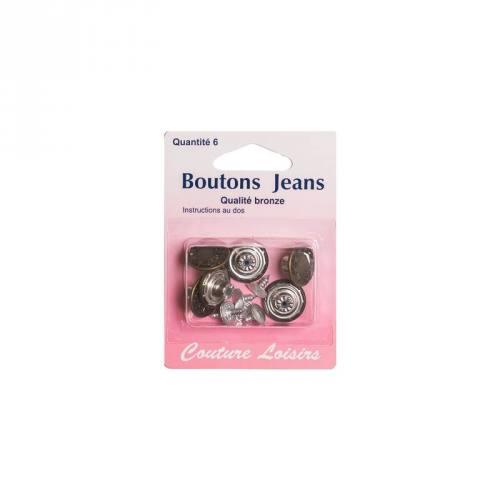 Bouton jeans bronze x6