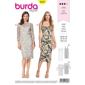 Patron Burda 6423 : Robe Taille 36-46