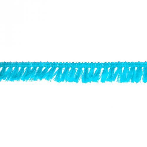 Galon à franges 27mm bleu turquoise