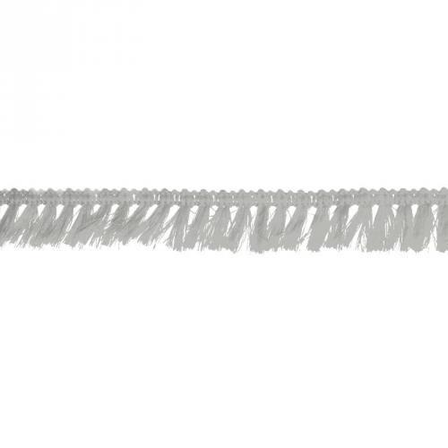 Galon à franges 27mm gris