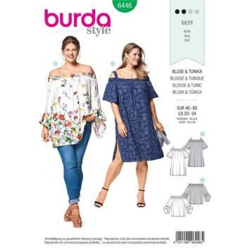 Patron Burda 6446 : Blouse et tunique Taille 46-60