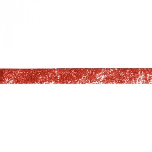 Galon pailleté rouge 25mm