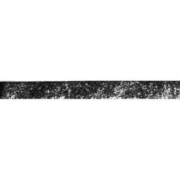 Galon pailleté noir 25mm
