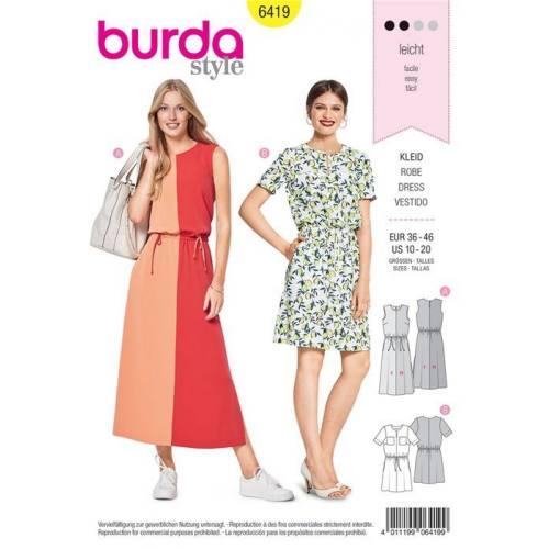 Patron Burda 6419 : Robe Taille 36-46