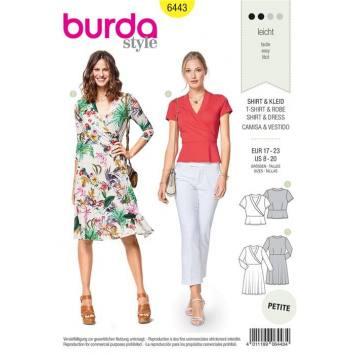 88b120b1aa7 Patron Burda 6443   T-shirt et robe Taille 17-23 Patron Burda 6443    T-shirt et robe Taille 17-23