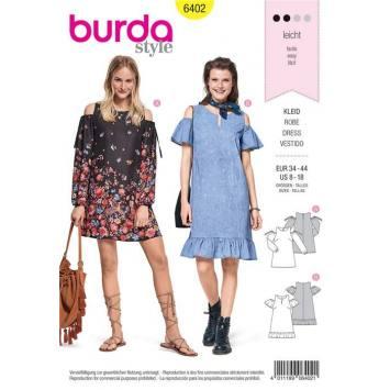 Patron Burda 6402 : Robe Taille 34-44