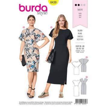 Patron Burda 6439 : Robe Taille 36-46