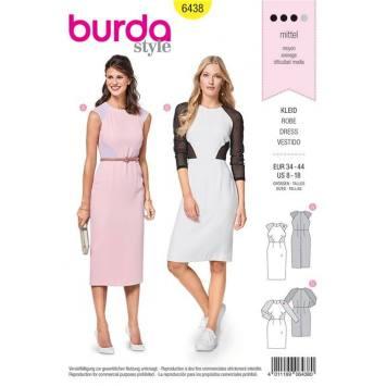 Patron Burda 6438 : Robe Taille 34-44
