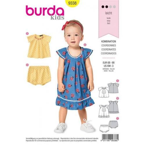 Patron Burda 9338 : Coordonnés Taille 68-98