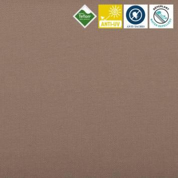 Toile extérieure Téflon grande largeur unie marron clair