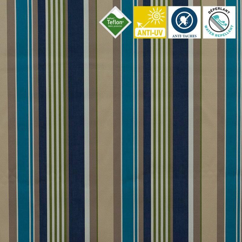 toile ext rieure t flon grande largeur ray e elba bleue. Black Bedroom Furniture Sets. Home Design Ideas