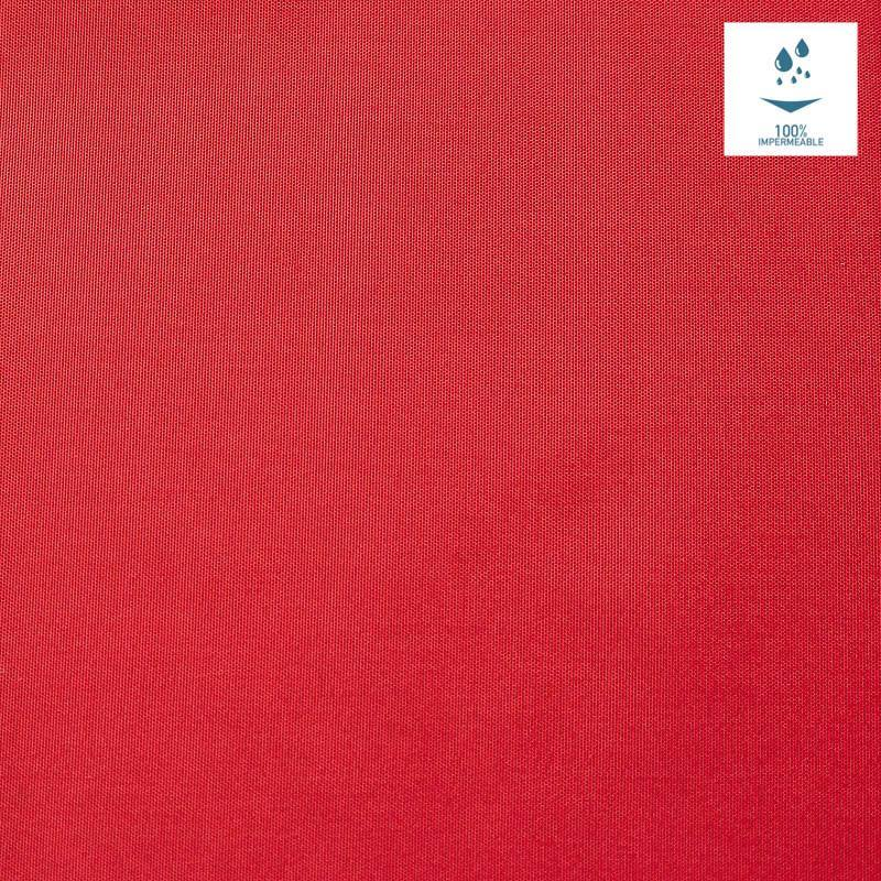 Tissu imperméable léger rouge