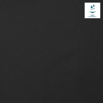 Tissu imperméable léger noir