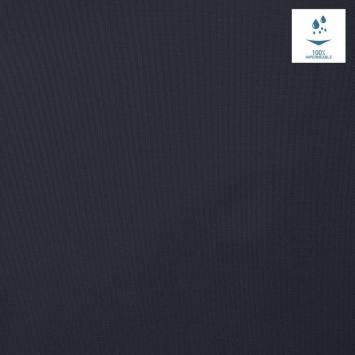 Tissu imperméable léger bleu marine