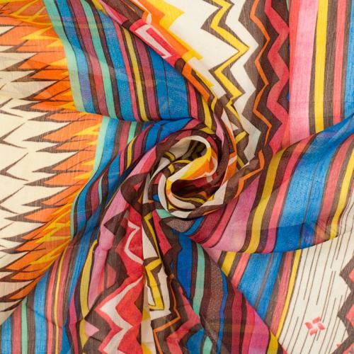 Mousseline motif african vibes orange