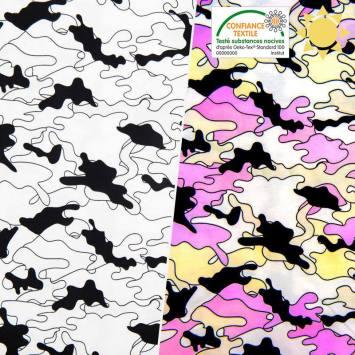 Jersey magique motif camouflage
