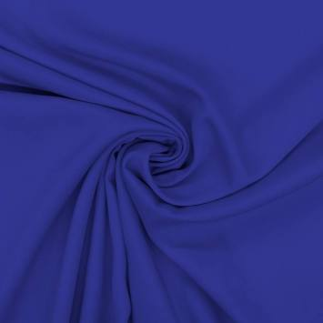 Tissu viscose twill bleu roi