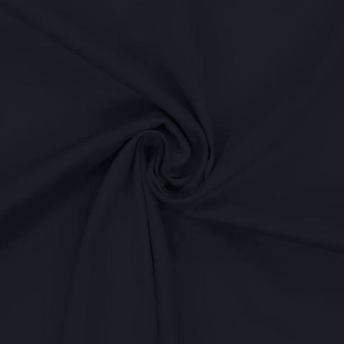 Coton satiné stretch bleu marine