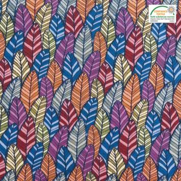 Jacquard multicolore motif plume