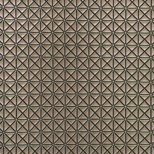 coupon - Coupon 50x65cm - Simili cuir relief japan mordoré