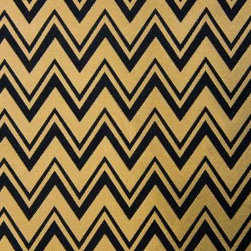Jacquard noir et doré motif triangle