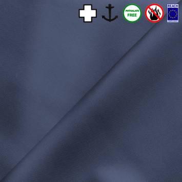 Simili cuir celeste métallisé bleu