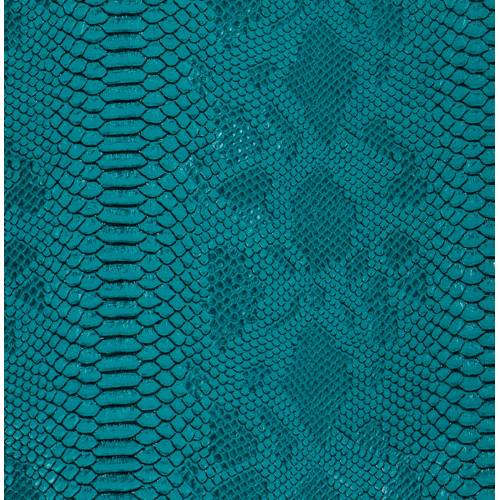 coupon - Coupon 50x65cm - Simili cuir Dragon turquoise