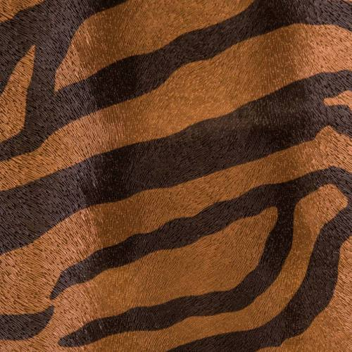 Simili zèbre noir et bronze