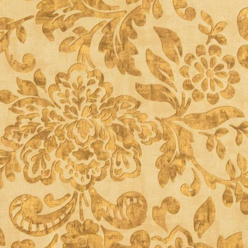 Tissu occultant sable motif floral