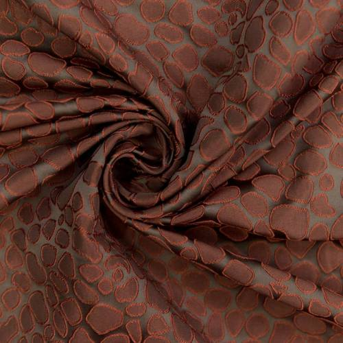 Jacquard taupe forme rouge en relief