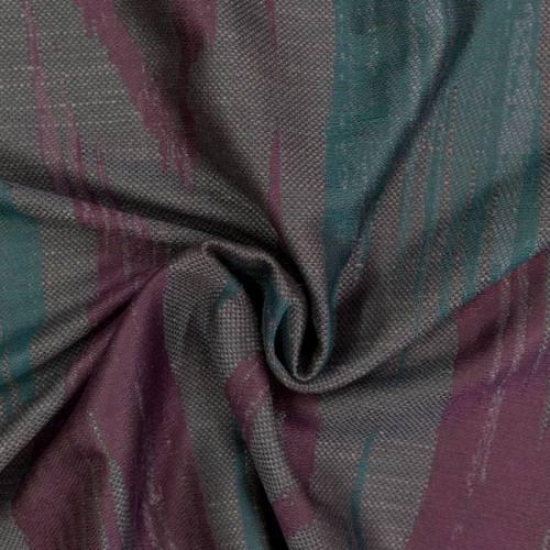 Jacquard violet et bleu motif bande abstraite