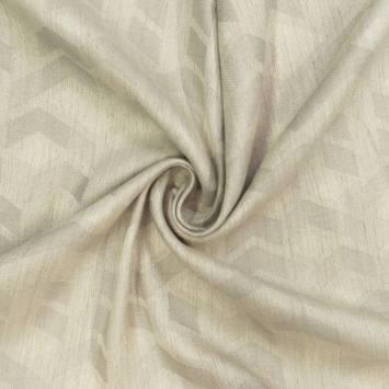 Jacquard couleur naturel motif géométrique grège