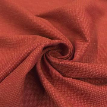 Toile viscose chiné rouge et sable