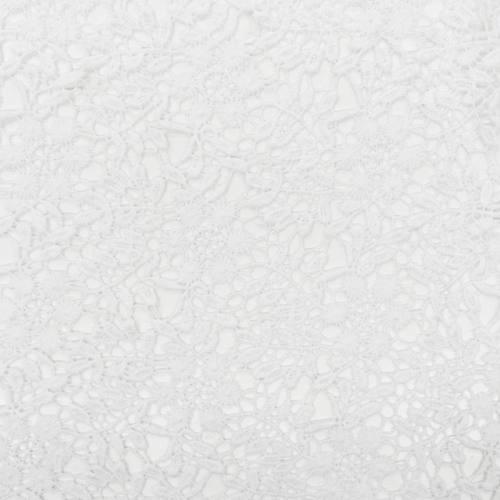Dentelle guipure blanche petites fleurs rondes et feuilles