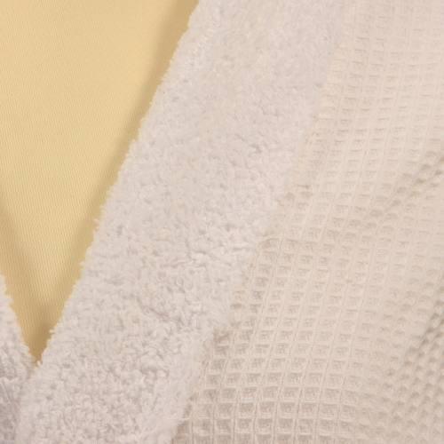 Eponge blanc - double face nid d'abeille