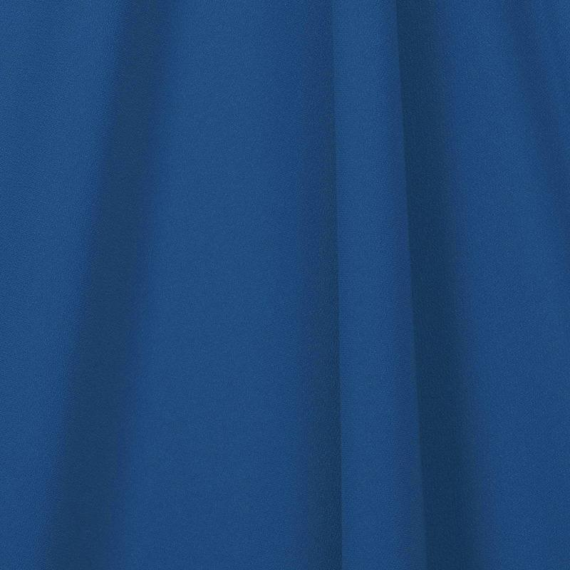 Tissu crêpe bleu roi