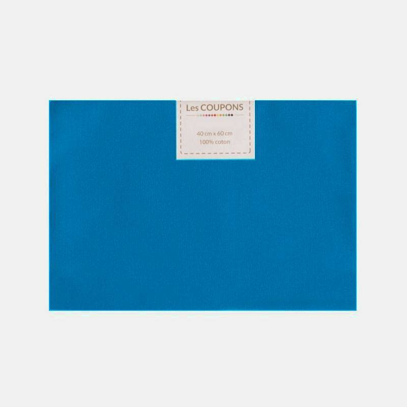 Coupon 40x60 cm uni bleu éléctrique