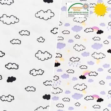 Jersey magique motif nuages