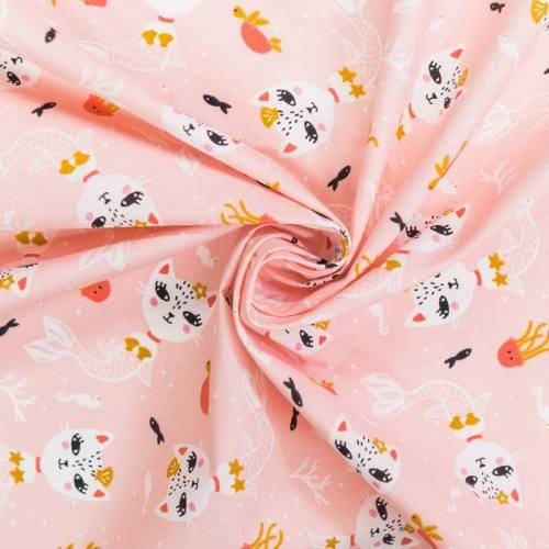 Coton rose motif siamirene ocre
