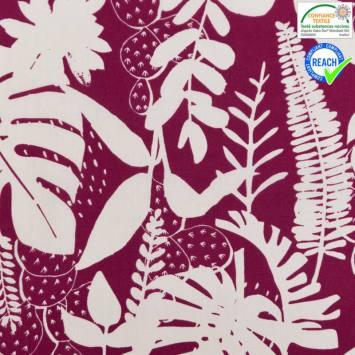 Coton prune motif gonca lin