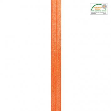 Biais élastique orange 15mm