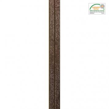 Biais élastique marron 15mm
