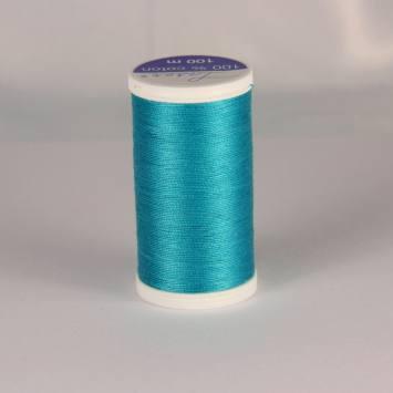 Fil coton laser bleu turquoise 3223
