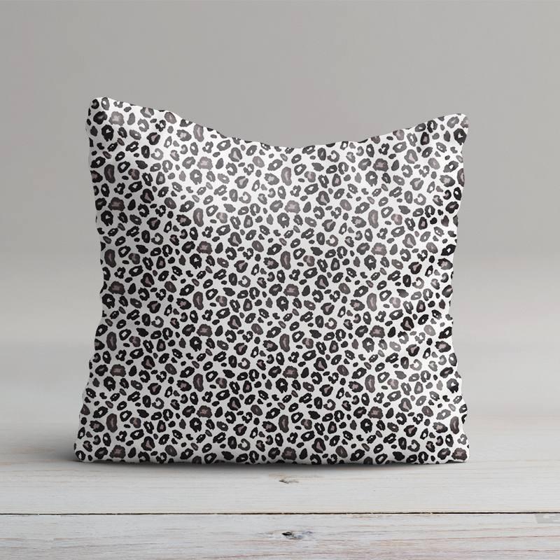 Coton blanc imprimé léopard